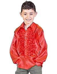 Satin Rüschenhemd Johnny für Kinder - Tolle glänzende Hemden mit Rüschen im Stil der 70er 80er Jahre für Jungen und Mädchen