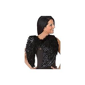 Atosa 42733 - Figura de alas unisex - adultos, color negro
