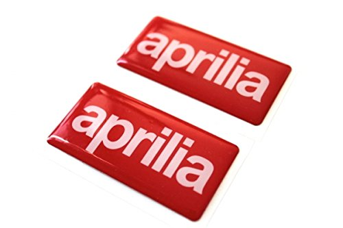 2x Aprilia LOGO Gel Aufkleber Sticker Emblem SR 50 RS RSV TUONO Motorrad #7