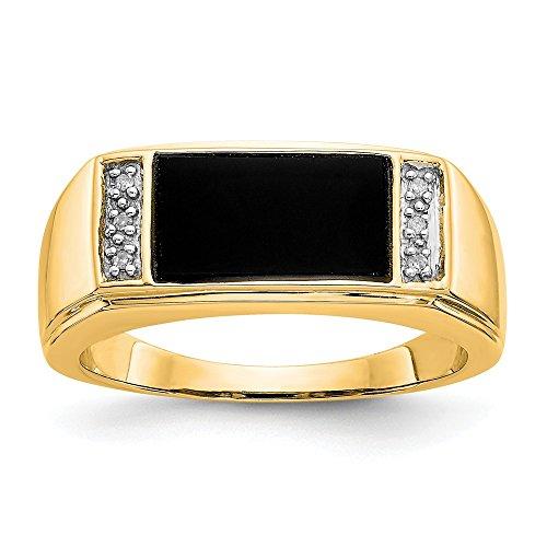 Anillo de oro de 14 quilates con diamantes de la mejor calidad para hombre