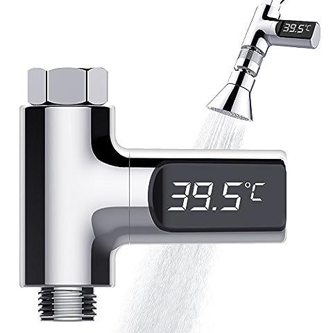 Dusche Thermometer, Tecboss Digital Shower Thermometer Thermostat Für Kinder ältere Leute Haustiere - Celsius