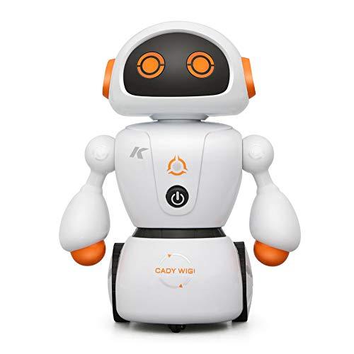 WQGNMJZ Roboter, Fernbedienungsroboter, R6-Mabyrinth programmieren intelligente Tanz-Rotoboter, Indoor-Entertainment-Puzzle, Spielzeug-Roboter,Orange