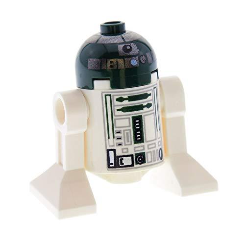 Bausteine gebraucht 1 x Lego System Figur Star Wars Droid R4-P44 Droide dunkel grün Weiss Episode 3 Set Kit Fistos ARC-170 Starfighter Astromechdroide R4 P44 8088 sw267