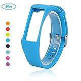 Bemodst® Armband für Polar A360 Fitness-Tracker, Ersatzzubehör Uhrenarmband, weiches Silikon Schreibband Armband für Polar A 360 Smartwatch, himmelblau