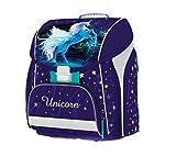Unicorn Pferd Pony Einhorn Horse Schulranzen RANZEN Schulrucksack Tornister Ranzen Tasche inkl. Sticker von Kids4shop blau