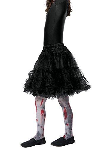 Smiffys, Kinder Unisex Zombie Strumpfhose mit Blutflecken, One Size, Grau und Rot, (Dirt Zombie)