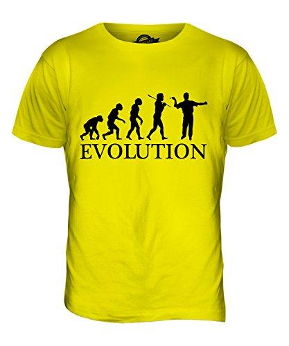 CandyMix Darts Evolution Des Menschen Herren T Shirt Zitronengelb