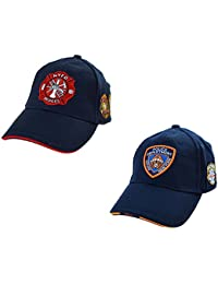 1ca85f38bfdf1 topt mili lot 2 Casquette police et pompier new york ny americaine us usa  brodée nypd
