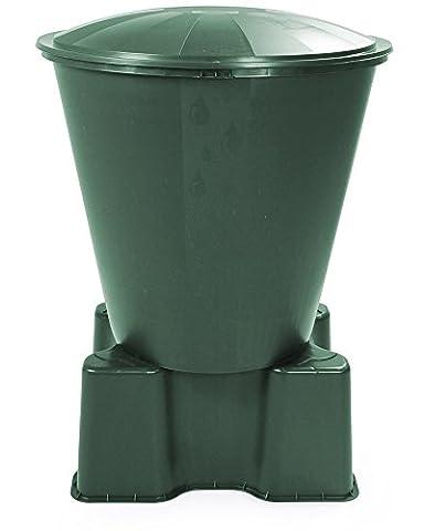 Wassertank Fass Aqua Regentonne mit Deckel und Ständer Ecotank grün 210 Liter