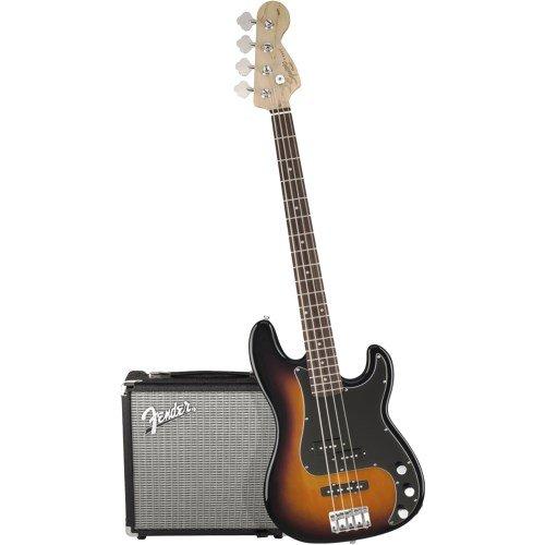 Fender Squier Affinity Precision Bass PJ PK - Brown Sunburst - Rumble 15