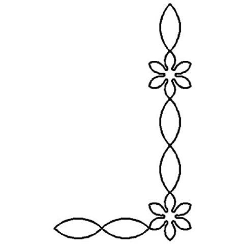 Quilting Creations Starflower Chain Border and Corner Quilt Stencil by Quilting Creations