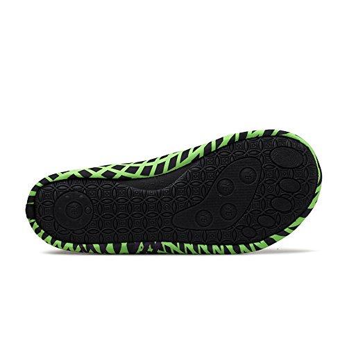 a Nuovo griglia Piedi Ginnastica da Asciugatura Paio Scarpe Sport Rapida di a Scarpe Acquatici Signore da Traspirante Nudi Yoga Elegante Calze Verde Uomo hellomiko Piedi Striscia da Pantofole B8fP5Fq8w