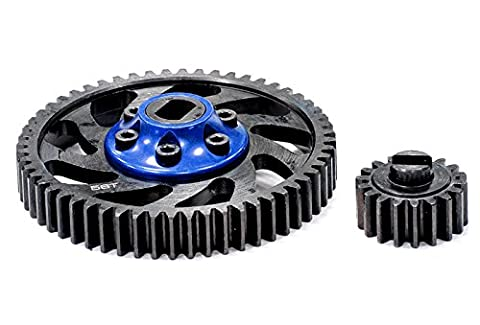 Integy RC Modell Tuningteile BAJ227BLUE Billet Machined Type II Gear Set 18T+56T für HPI Baja 5B, 5T, 5B2.0 & 5SC
