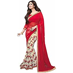 SAREES (Macube Women's Clothing Sarees for women latest Color Sarees collection in latest Sarees free size beautiful bollywood Sarees for women party wear offer designer Sarees with Blouse piece Sarees New Collection 2017)