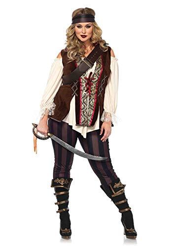 Piratin Kostüm Übergröße - Leg Avenue Damen Captain Blackheart Piratin