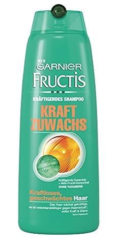 Garnier Fructis Kraft Zuwachs Shampoo, Haarshampoo für kraftloses, geschwächtes Haar (mit Ceramiden & Aktiv-Frucht-Konzentrat - ohne Parabene) 1er Pack - 250 ml)
