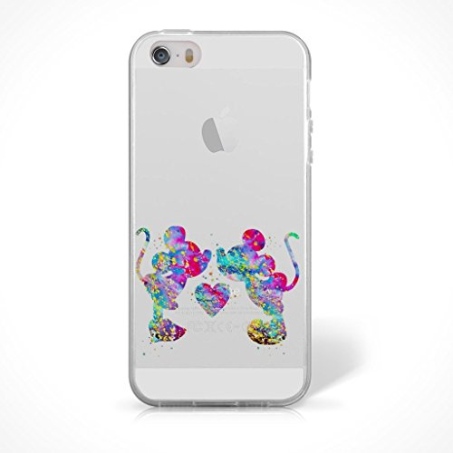 """Fan Art Telefon Hülle/Case Gel TPU Abdeckung für iPhone 6 / 6s (4.7"""") mit Display Schutz / EJC Avenue / Die Schöne und das Biest Mickey & Minnie Maus"""