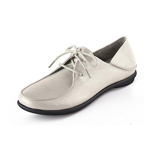 Fall chaussures profondes à fond plat/Soins infirmiers chaussures/Chaussures plates/Chaussures de sport blanches A