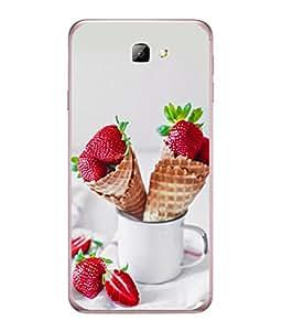 PrintVisa Designer Back Case Cover for Samsung On7 (2016) (Milk Ice cream)