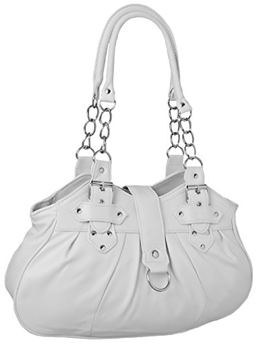 EyeCatchBags - Huron Faux Leather Womens Shoulder Bag Handbag New White