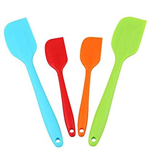 4 Stücke Silikon Spachtel, Silikon Küchenutensilien Werkzeug, BPA-freier hitzebeständiger Antihaft Gummi-Schaber Spachtel (Gummi Küchenutensilien)