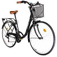 """Moma Bikes Bicicleta Paseo  City Classic 28"""", Aluminio , SHIMANO 18V"""