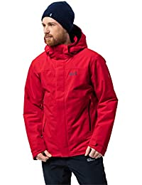 Jack Wolfskin Northern Edge Men Veste d'hiver imperméable et Coupe-Vent Respirant Veste de Protection Contre Les intempéries
