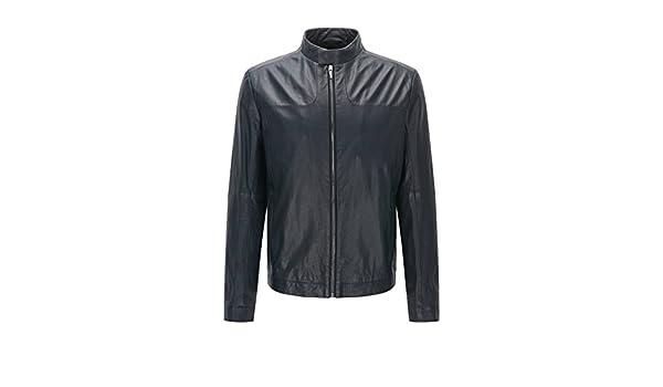 38567c739e88 BOSS Hugo Lemy 10197429 Men s Leather Jackets (XLarge)  Amazon.co.uk   Clothing