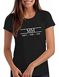 "Womens 2000 ""Veni Vidi Vici"" 18th Birthday T Shirt Gift with Year Printed in Roman Numerals"