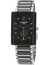 Roamer Women's Quartz Watch with Black Dial Analogue Display and Multi-Colour Stainless Steel Plated Bracelet