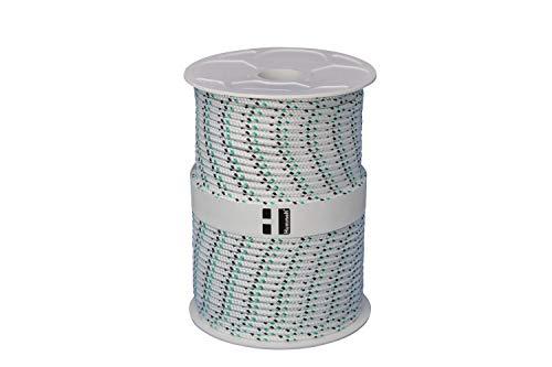 Hummelt® SilverLine-Rope Schot Seil Polyesterseil 6mm 100m weiß/schwarz/grün auf Rolle