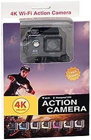كاميرا كروني الترا اتش دي 4K بدقة 12 ميجابكسل مضادة للماء بميزة واي فاي اتش 9- اسود