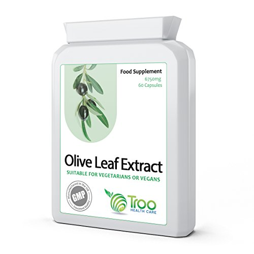 Olive Leaf Extract 6750mg 60 Capsules - Daily Supplement to Support Healthy Immune System, Balanced Blood Sugar, Healthy Circulation, Balanced Cholesterol and Help Provide Energy Test