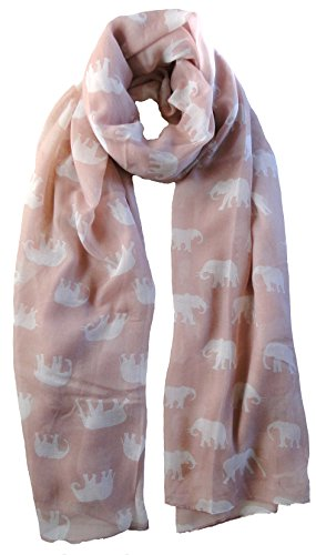 pink-elephant-print-scarf-animal-ladies-fashion-scarves
