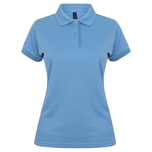 Henbury Damen Coolplus® Polo-Shirt/Polohemd, (M) (Mittelblau) - Frauen Polo-shirts