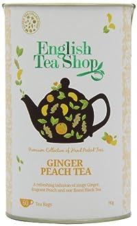English Tea Shop Super Ginger Peach - 60 Tagged Tea Bags