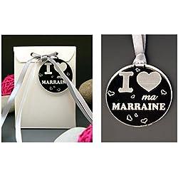 Boite de Chocolat I ♥ ma Marraine - Cadeau Baptême, Noël...