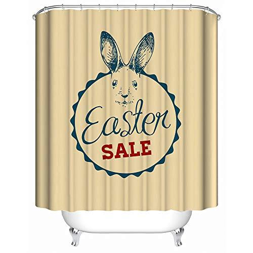 ng Kunst Badezimmer Dekor, benutzerdefinierte spezielle Design Frohe Ostern lustige Kaninchen, Wasserdicht Mehltau resistent 60