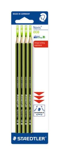Staedtler Noris 18030BK4LA Eco-Bleistifte, 4er Pack, Stärke: HB