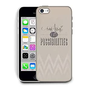 Snoogg Imagine The Possibilites Designer Protective Back Case Cover For Apple Iphone 5C