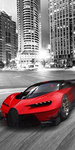 Supercars - telo mare 100% cotone, dimensioni: 70 x 140 cm