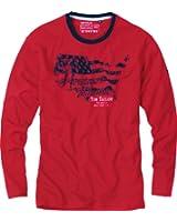 Tom Tailor Langarmshirt Single-Jersey rot Größe 50