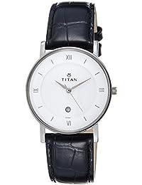Titan Analog White Dial Unisex Watch-NL9162SL04