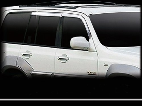 Terracan Chrom Windabweiser Regenabweiser Tuning 4 Teile Safe Window Visor Chrome (Hyundai Window Visor)