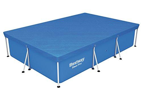 Bestway Flowclear PE-Abdeckplane, für Steel Pro Pool, 300 x 201 x 66 cm (Frame-set Deluxe)