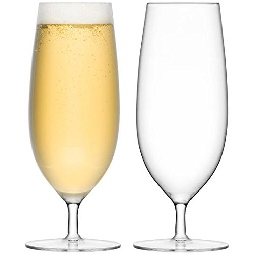 LSA International Bar Pilsner Verre 450 ml Transparent Lot de 2