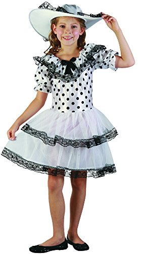 Eine Belle Southern Kostüm - Bristol Novelty CC207Southern Belle Kostüm Kind (klein)