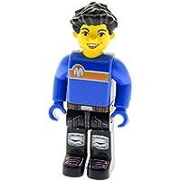 1 x Lego System Figur 4 Juniors Jack Stone Mann Mechaniker rot blau 4668 js022