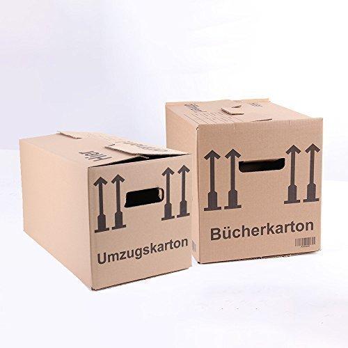 Sparset: 10 Umzugskartons Movebox 2-wellig + 5 Bücherkartons Umzugskisten Ordnerboxen Kiste von A&G-heute