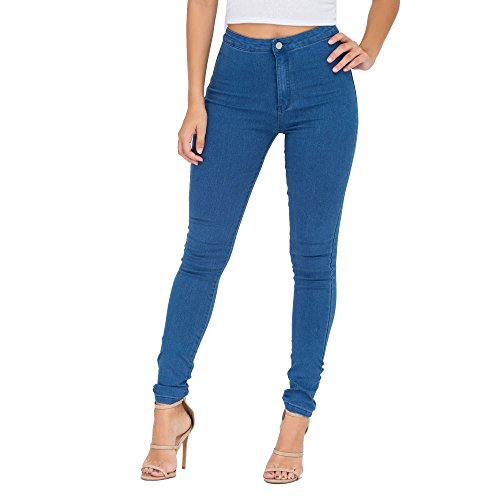 Simply Chic Outlet SCO New Womens Ladies Skinny High Waist Tube Plus Size Jeans Slim Fit Comfy Denim Trousers